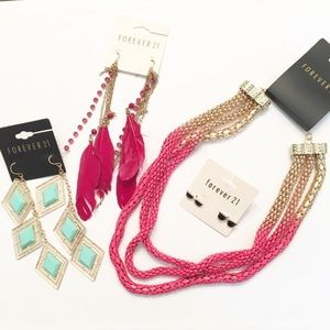 Forever 21 Jewelry Lot 4 Pieces NEW